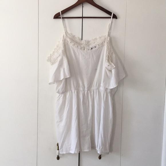 caa5770dd296 Boohoo Plus Pants   Nwt Boohoo Lily Crochet Open Shoulder Playsuit ...